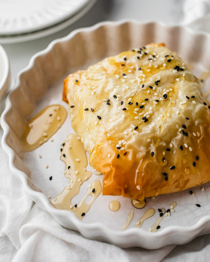 Chef Tara Reeves Phyllo Wrapped Baked Feta